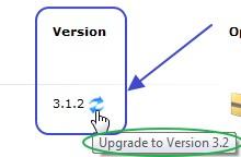 ภาพการดูเช็ค version สำหรับ Update สคริปของ Softaculous