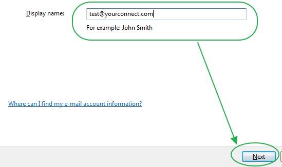 การใส่ชื่อบริเวณ Display Name ใน Windows Mail
