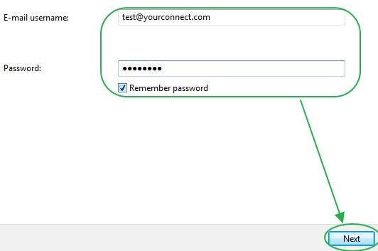 การคั้งค่าบริเวณ user ใน Windows Mail
