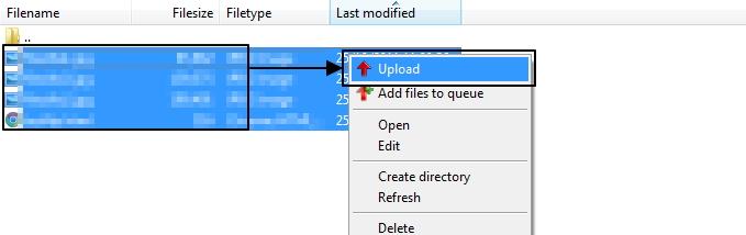 การเลือกใช้ไฟล์ที่จะทำการ Upload