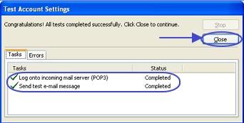 ภาพแสดงผลการทดลองค่า Outlook 2007