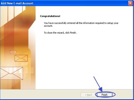 ภาพจบการตั้งค่า Outlook 2007