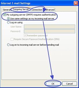 การเลือกค่าอีเมล์ที่ใช้ใน Outlook 2007