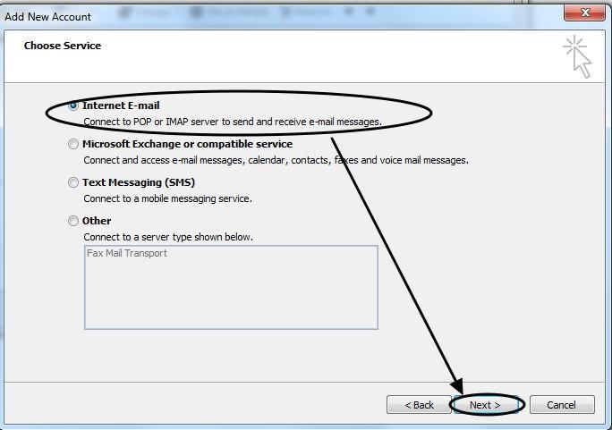 การตั้งค่า Outlook 2010-4