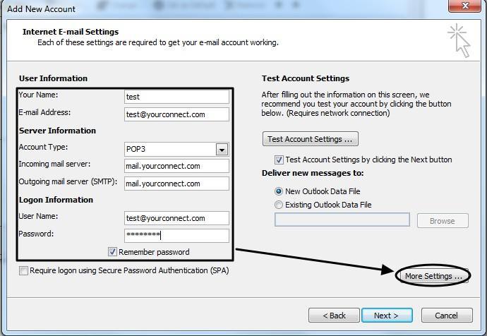 การตั้งค่า Outlook 2010-5