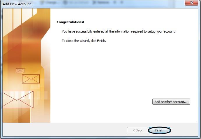 การตั้งค่า Outlook 2010-9